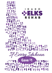 Logo for Idaho Elks Rehab's What if Every Idahoan Gave $1 Campaign